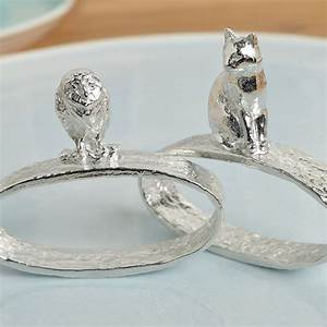 owl and pussycat napkin ring pair pewter wedding gift With pewter wedding rings