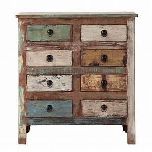 cabinet de rangement en bois recycle l 80 cm calanque With maison du monde cabinet