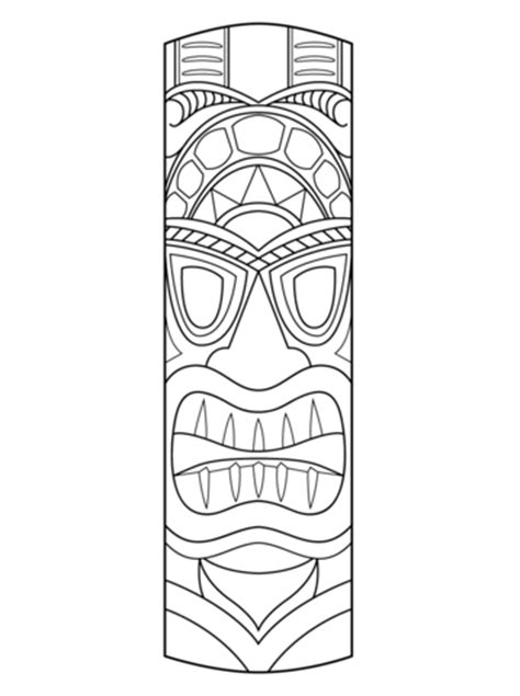 tiki mask coloring page  printable coloring pages
