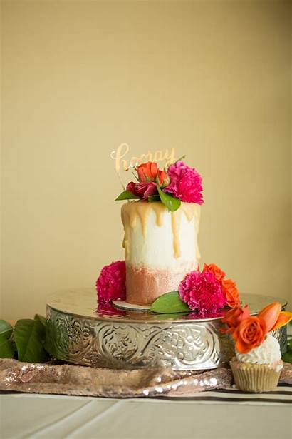 Shower Bridal Gold Rose Champagne Cake Party