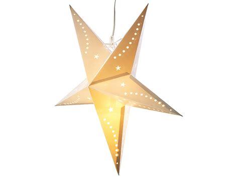 weihnachtsstern mit licht lunartec weihnachtsle 3d weihnachtsstern le aus papier 60 cm wei 223