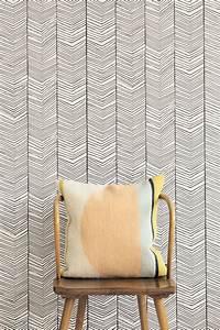 Tapete Living : tapete herringbone von ferm living schwarz wei 1820 1 ~ Yasmunasinghe.com Haus und Dekorationen