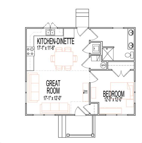 rustic craftsman house floor plans 1 story 1 bedroom 700 sq ft