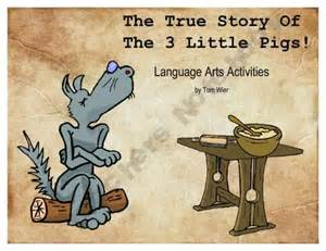 True Story of the Three Little Pigs Activities