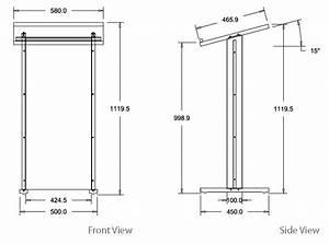 Standard Black Melamine Lectern - Flat Front Panel