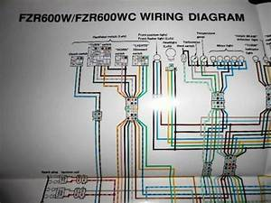 Yamaha Oem Factory Color Wiring Diagram Schematic 1989 Fzr600w Fzr600 W Wc