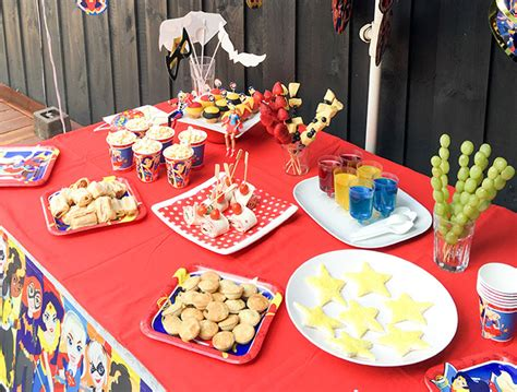 emmas dc super hero girls party fun party food