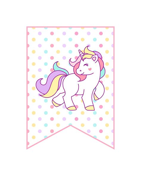 free printable unicorn decorations the cottage market