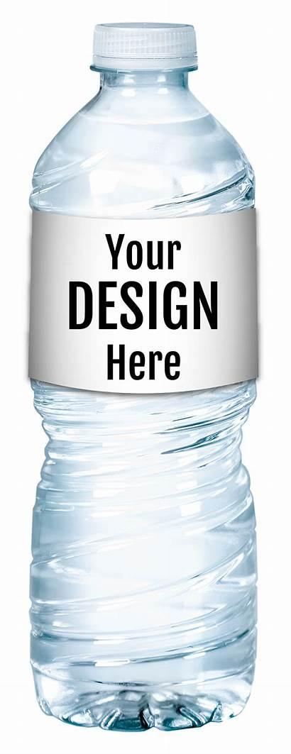 Water Brands Label Bottled Premium Waters Custom