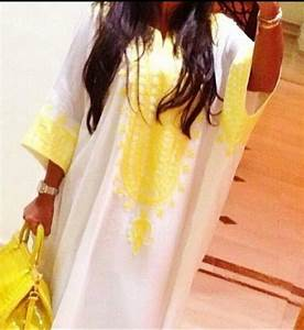 dress abaya kaftan yellow white arab arabic maghreb With robe maghreb