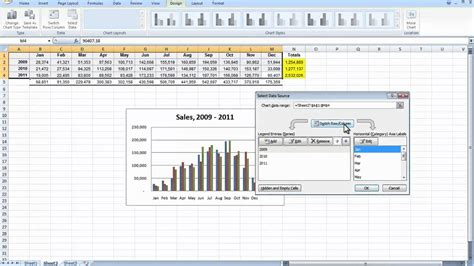 Comparison Chart Template Numbers by Comparing Monthly And Yearly Sales In Excel Easy Youtube