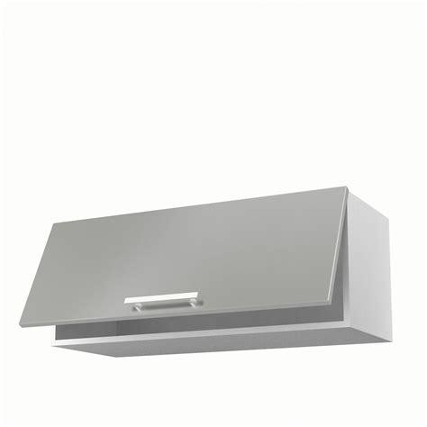placard haut de cuisine meuble de cuisine haut gris 1 porte délice h 35 x l 90 x p