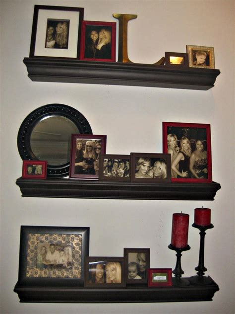 floating wall shelves decorating ideas the bargain how i did my quot floating shelves photo wall quot Floating Wall Shelves Decorating Ideas