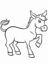 Donkey Coloring Burro Colorear Esel Little Stands Kleurende Leuke Dieren Pagina Weinig Netter Ezel Animals Tiere Farbtonseiten Burrito Kleiner Dibujo sketch template