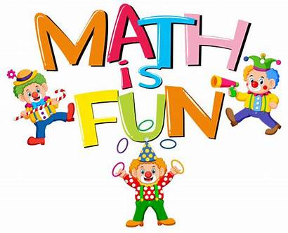Math Fun Word Font Clip Vector Clowns