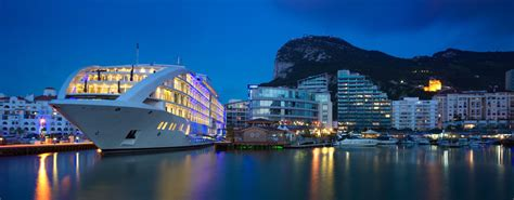 Floating Boat Hotel Gibraltar by Yacht Hotel Development Sunborn