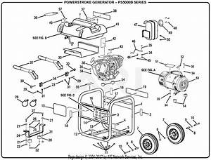 Homelite Ps5000b Series 5000 Watt Generator Parts Diagram For General Assembly