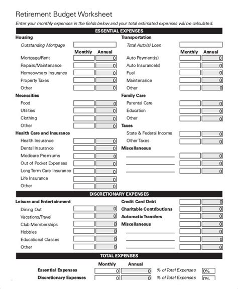 13+ Simple Monthly Budget Worksheets  Word, Pdf, Excel  Free & Premium Templates