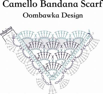 Scarf Diagram Bandana Crochet Camello Pattern Stitch