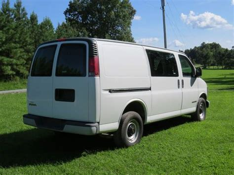 free car manuals to download 2001 gmc savana 1500 auto manual find used 2001 gmc savana 3500 cargo van 5 7 liter no reserve in new canton virginia united states