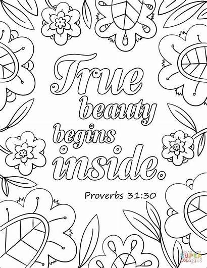 Coloring Pages True Beauty Inside Begins Bible