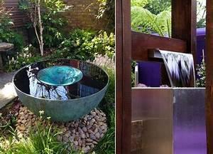 cascade fontaine de jardin et piece deau projets modernes With fontaine de jardin moderne