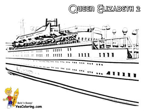 Queen Mary 2 Ship Coloring Pages Coloring Pages
