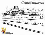 Cruise Coloring Ship Ships Queen Elizabeth Boat Pages Colouring Yescoloring Swanky Boats sketch template