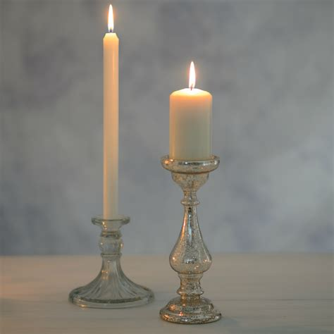 wax lyrical mercury pillar candle holder flower studio