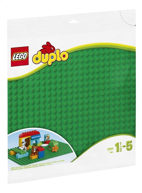 plaque lego duplo lego duplo 2304 grande plaque de base verte collishop
