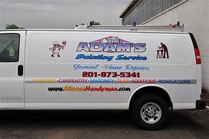 Vinyl and digital printing on white van original design for Vehicle lettering design online