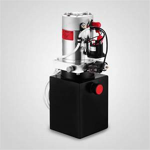 Dc 12v 3 Quart Single Acting Hydraulic Pump Power Unit ...