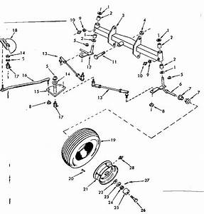 Front Axle Assembly Diagram  U0026 Parts List For Model 91725730 Craftsman