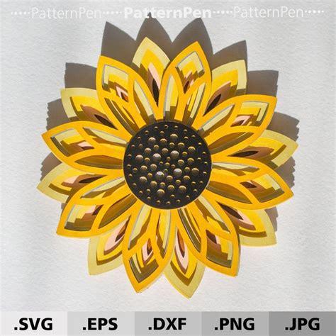 How to make a mandala file for cricut? 3D Mandala Sunflower SVG files for Cricut Silhouette ...
