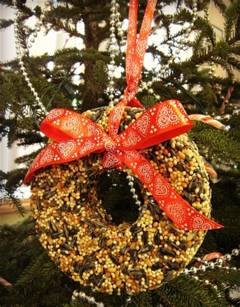 diy birdseed ornaments  christmas shelterness