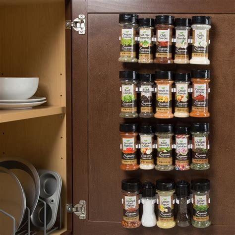 spice rack with spices lavish home white spice rack organizer m050032 the home