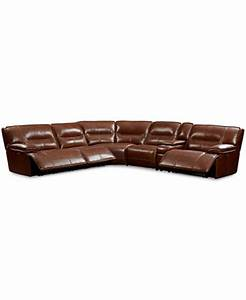 Beckett leather 6 piece sectional sofa with 3 power for Beckett leather 6 piece sectional sofa with 3 power recliners