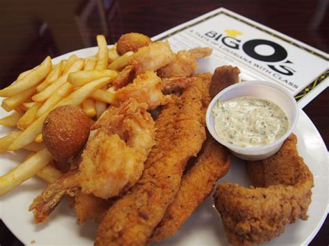 Fried shrimp and catfish at Big O's, Bossier City | The ...