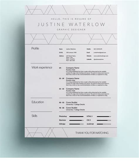 Professional Looking Cv Templates by 13 Slick And Highly Professional Cv Templates Guru