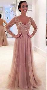 2016 pink removable train wedding dress applique long With long sleeve pink wedding dresses