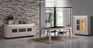 Meuble Salle à Manger Blanc : salle manger moderne en bois blanchi stella ~ Teatrodelosmanantiales.com Idées de Décoration