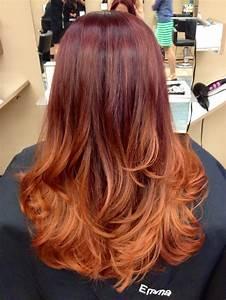 Ombré Hair Auburn : 22 fiery red ombre hair color ideas ~ Dode.kayakingforconservation.com Idées de Décoration