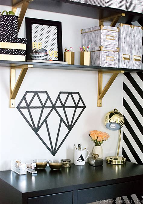 diy washi tape wall art ideas