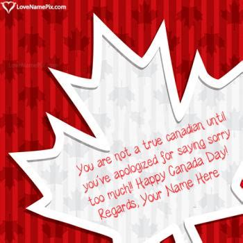 Happy Canada Independence Day Quotes With Name