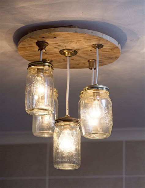 Diy Mason Jar Chandelier Garden Home