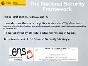 Spanish Government IT Security Policy: The National ...