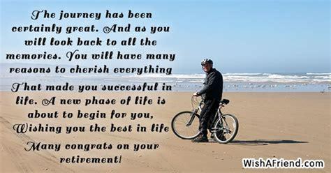 journey    great retirement congratulations message