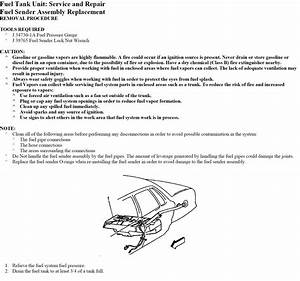 How To Change Fuel Pump On 1999 Buick Park Avenue Ultra