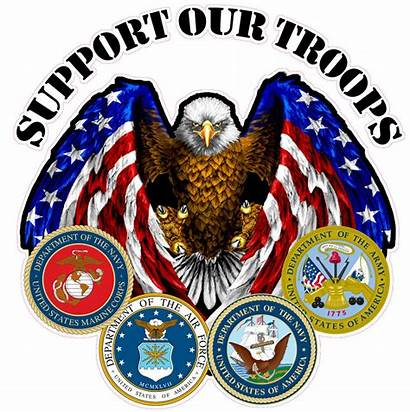 Support Decal Troops Decals Rv Trailer American