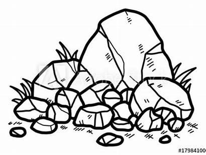 Rocks Clipart Rock Drawing Cartoon Stones Pile